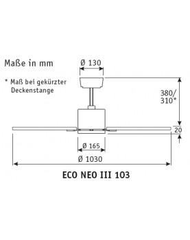 Deckenventilator Eco Neo III 103 CH-WE/LG