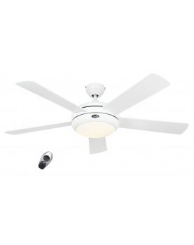 Ventilador de techo con luz CasaFan 9513261 TITANIUM blanco satinado / blanco