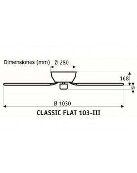 Esquema ventilador de techo 5103061 classic flat 103 aspas reversibles
