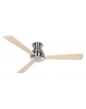 ventilador para el techo motor cromado y aspas de madera
