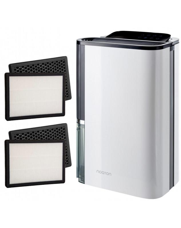 Pack Deshumidificador y purificador de aire NOATON DF 4123 HEPA + Filtro HEPA/carbón de repuesto