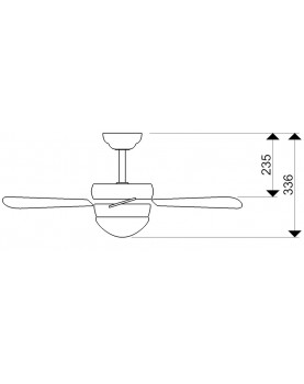 Esquema de ventilador de techo AireRyder FN43335 Classic con cadena