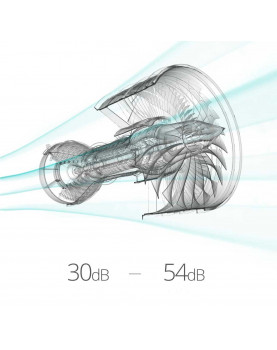 nivel de ruido del purificador Krupa Design KDAP05 HEPA H13