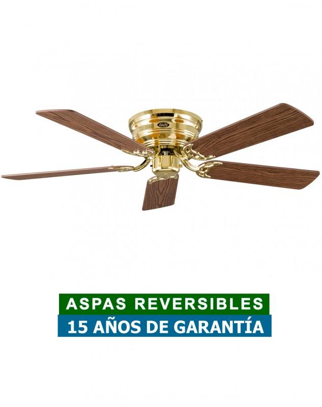 Ventilador de techo con instalación sin barras y aspas reversibles