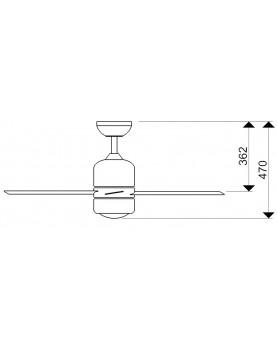 Esquema ventilador de techo con luz AireRyder FN51134 Loft con luz halógena