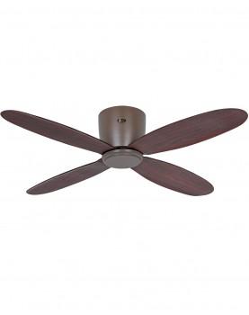 ventilador casafan para techos bajos ECO PLANO II madera oscura