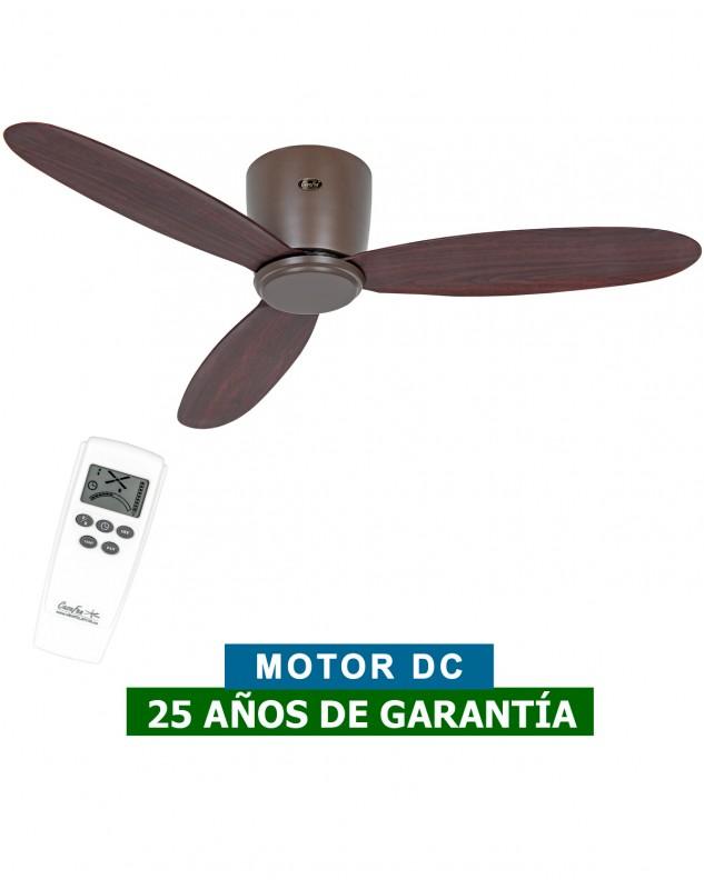 ventilador casafan para techos bajos ECO PLANO II color madera oscura nogal