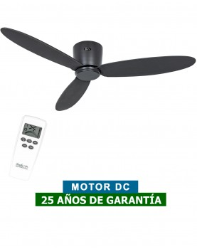 Ventilador para techos bajos negro 313284 ECO PLANO II