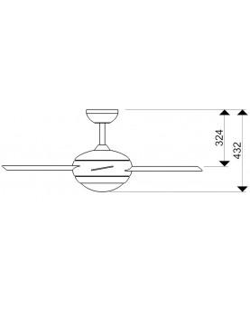 Esquema ventilador de techo con luz AireRyder FN52217 Fresco