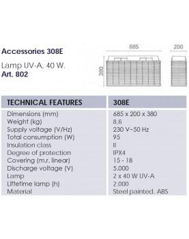 esquema Mosquitera eléctrica profesional Mo-El Cri Cri 308E