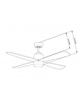 Esquema ventilador de techo con luz AireRyder FN74439 Stratus mando a distancia