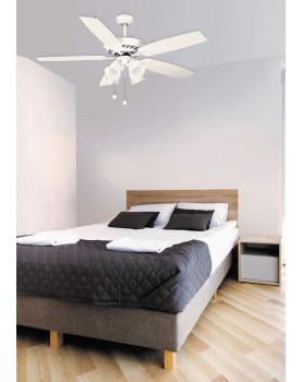 Ventilador de techo con luz Sulion 072130 Buik diseño clásico