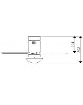 Esquema ventilador de techo con luz AireRyder FN73335 Aero mando a distancia