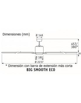 Esquema del ventilador de techo CasaFan 922012 Big smooth eco