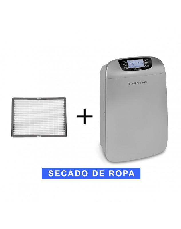 Deshumidificador móvil Trotec TTK 110 HEPA y purificador más un filtro de recambio