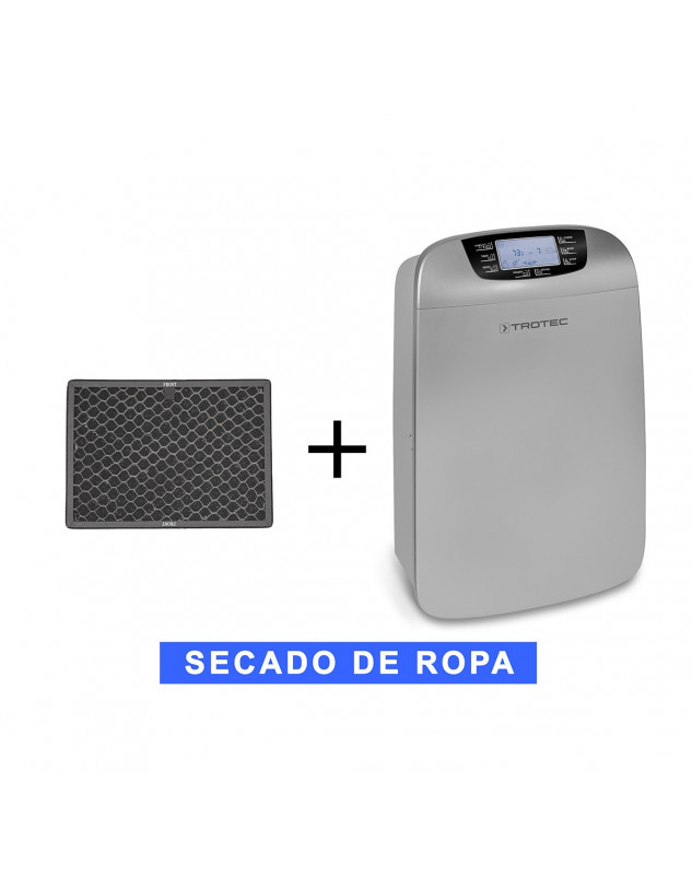 Filtro de carbón activo para deshumidificador móvil Trotec TTK 110 HEPA y purificador más un filtro de recambio