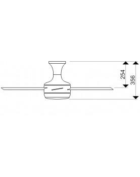 Esquema ventilador de techo con luz AireRyder FN72238 Saturn función verano/invierno