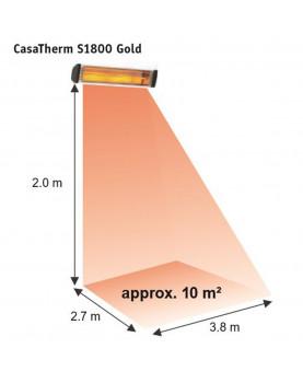 Calentador halógeno S1800 gold espacio de cobertura de 10 m2.