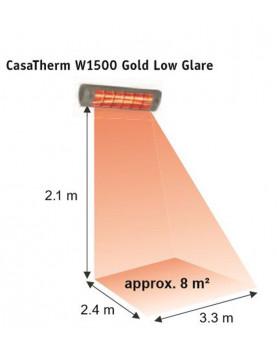 Calentador halógeno W1500 gold de 1500 W