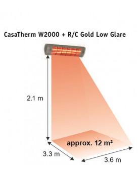 Calentador halógeno W2000 FB gold de 2000 W