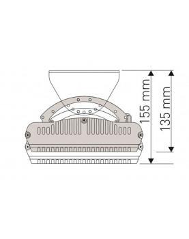 Esquema calefactor radiante casafan 9818 HOTTOP 1800 W posición de instalación