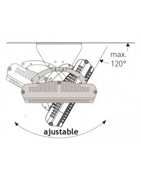 Calentador radiante casafan 981819 HOTTOP 1800 W posición de instalación