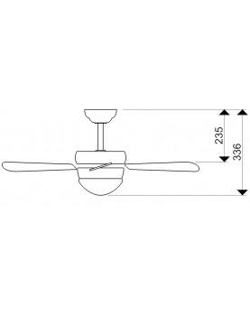 Esquema de ventilador de techo con luz y mando a distancia AireRyder FN43315RR Classic