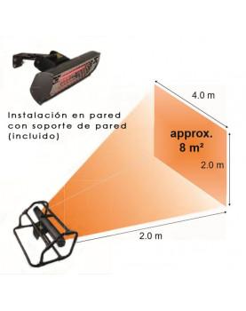 Radio de acción calefactor halógeno por infrarrojo CasaFan 70033 CASATHERM B2000-II Gold LowGlare