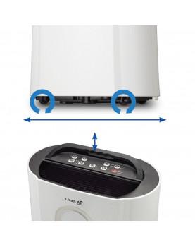 Deshumidificador y purificador Clean Air Optima CA-704 ruedas de transporte