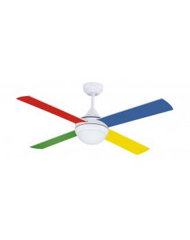 Ventilador de techo con luz sulion 075661 naif blanco o for Ventilador de techo blanco con luz