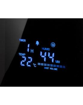 Humidificador de aire con ionizador Clean Air Optima CA-605 display informativo completo