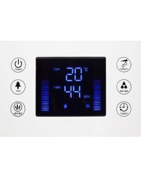 Humidificador de aire con ionizador Clean Air Optima CA-606 display informativo completo