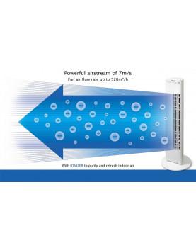 Ventilador para pie con ionizador Clean Air Optima CA-405 flujo de 7 metro por segundo