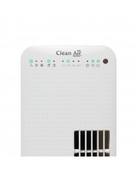 Ventilador para pie con ionizador Clean Air Optima CA-405 panel de luces frontal