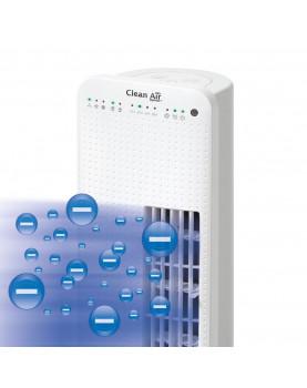 Ventilador para pie con ionizador Clean Air Optima CA-405 con limpieza de aire