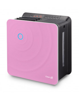 Humidificador de aire y purificador de aire Clean Air Optima CA-803 frente rosa