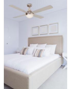 Ventilador de techo con luz Sulion 075005 CROSS CR diseño moderno
