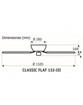 Esquema del ventilador de techo 5132001 classic flat 132 para techos bajos