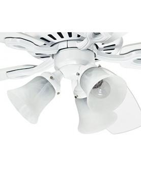 Ventilador de techo con luz Hunter Builder Plus 132 color blanco del motor con luz