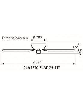 Esquema ventilador de techo 5075061 classic flat 75 aspas reversibles