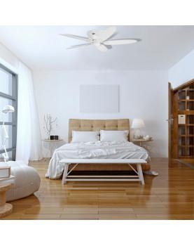 Ventilador de techo Hunter Low Profile color blanco silencioso