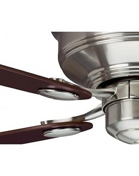 Ventilador de techo Hunter Low Profile color cromo satinado opcional sin luz