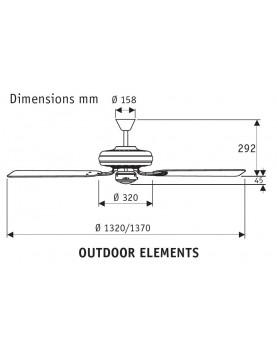 Ventilador para techo de exterior 24324 Outdoor Elements