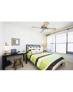 Ventilador de techo Hunter Bayport 107 color cromo satinado silencioso