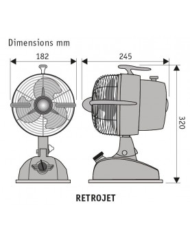 Esquema del ventilador de mesa CasaFan 301503 Retrojet