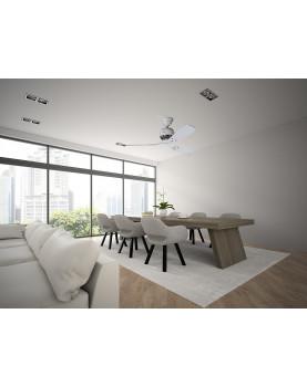Ventilador de techo Hunter Industrie II color blanco habitación