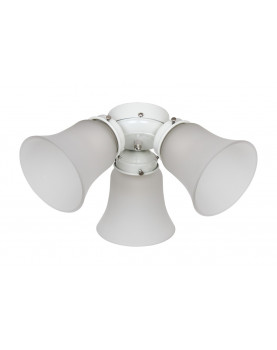 Kit de luz 3 light flush mount para ventiladores de techo Hunter