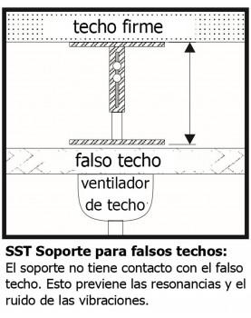 Esquema soporte para falso techo de 65 cm a 120 cm