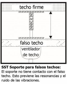 Esquema soporte para falso techo de 120 cm a 170 cm