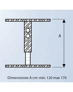 Diagrama soporte para falso techo de 120 cm a 170 cm